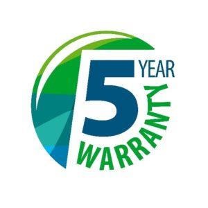 5-year warranty graphic